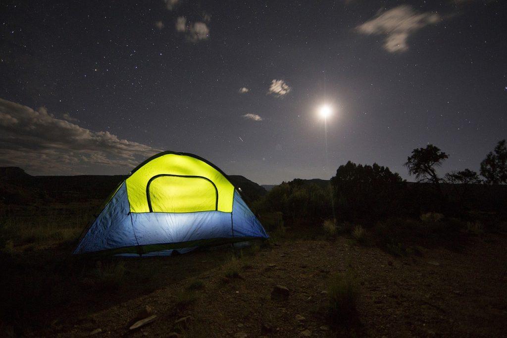 Camping auf Mallorca, Zelt
